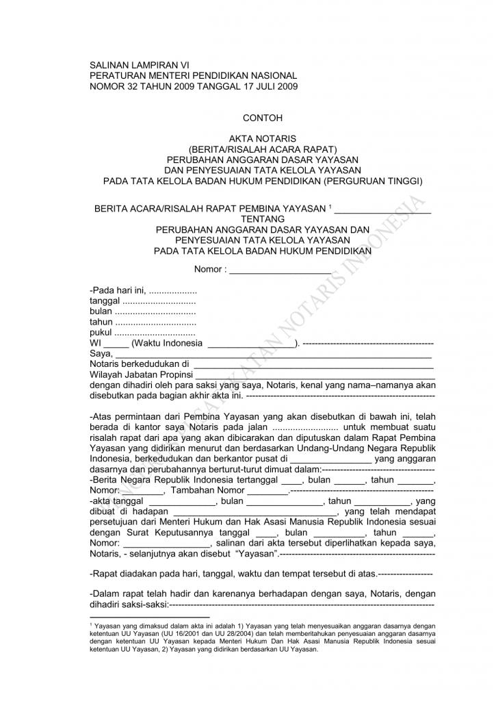 contoh berita acara notaris