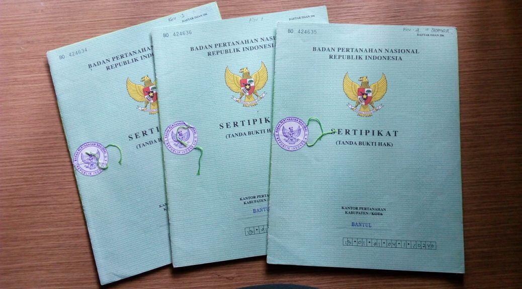 sertifikat hak atas tanah